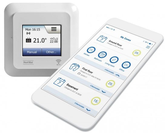 Electric Underfloor WIFI Touch Screen Thermostat NGT-2.0-WIFI
