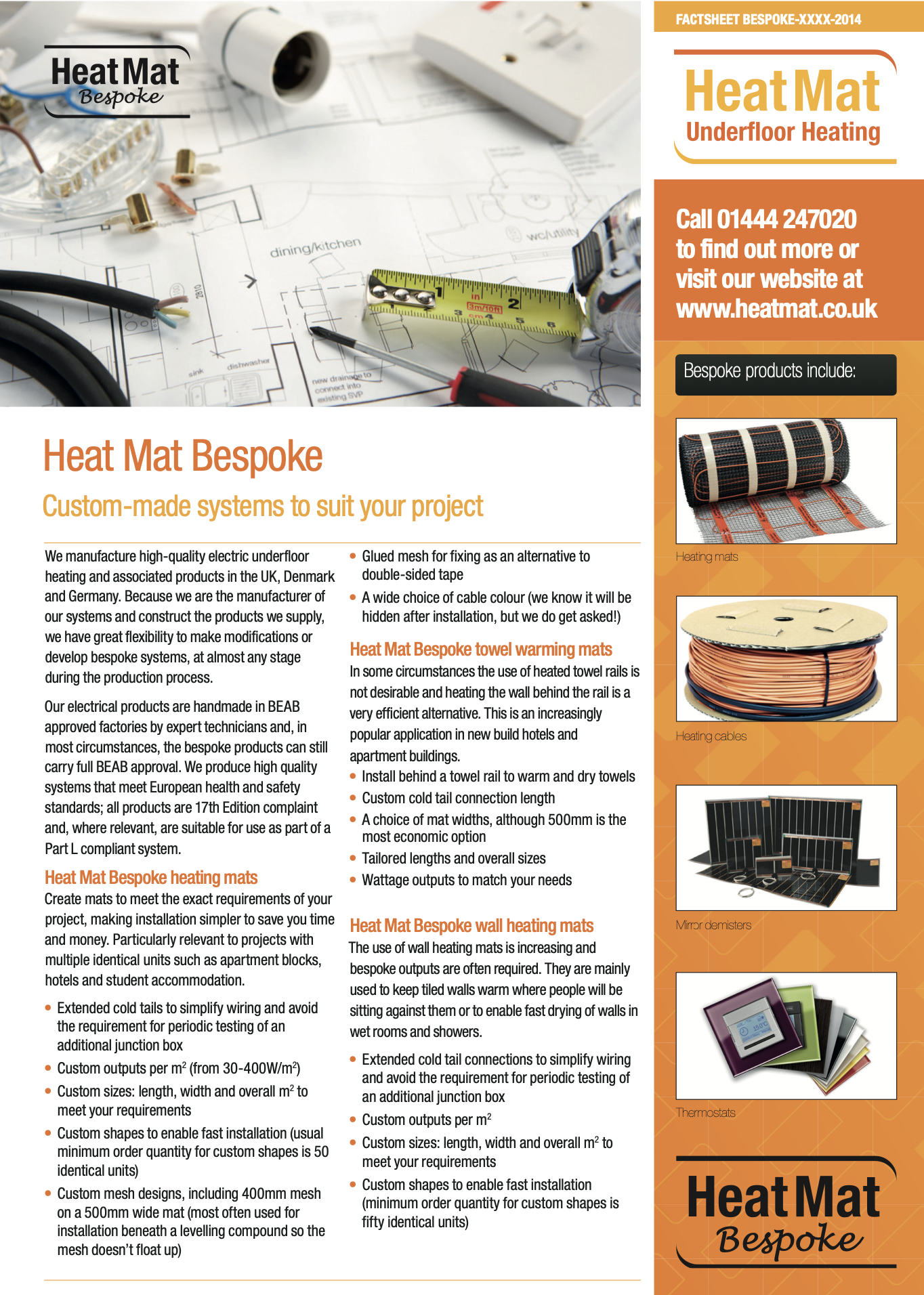 Bespoke Heat Mat Services