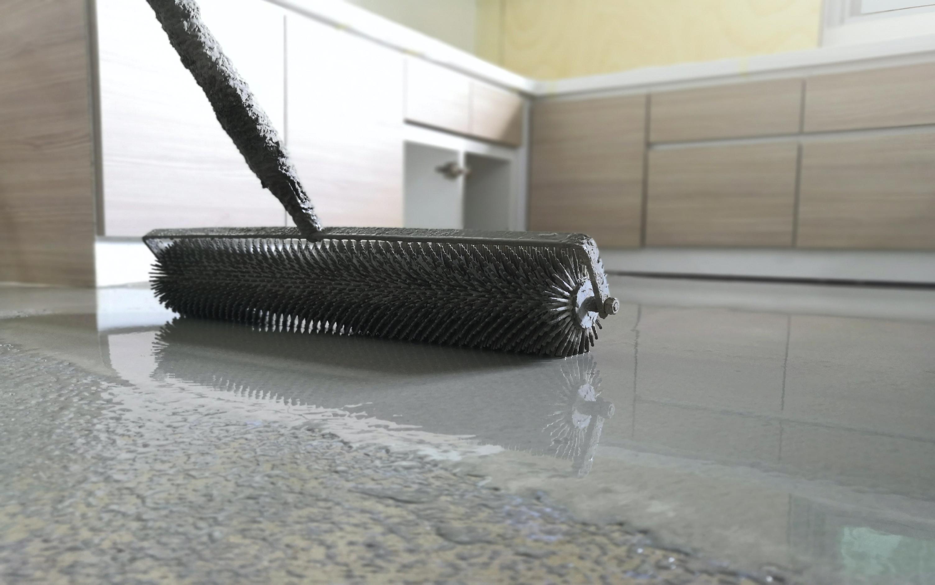 Concrete underfloor heating
